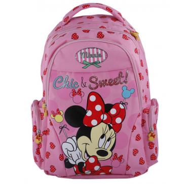 Ghiozdan scolar, 1-4, 44 x 32 x 14cm, roz, PIGNA Minnie Mouse
