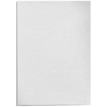 Coperti pentru indosariere, A4, 250 g/mp, alb (imitatie de piele), 100 bucati/top, FELLOWES Delta