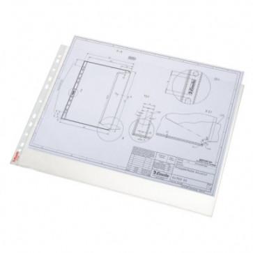 File din plastic, A3, transparent, 85 mic., 10 buc/set, ESSELTE Standard