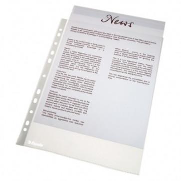 File din plastic, A4, transparent, 38 mic., 100 buc/cutie, ESSELTE Standard