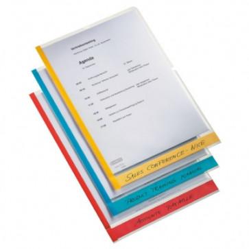 File din plastic, A4, transparent, cu eticheta orizontala, 6 buc/set, ESSELTE Desk Free