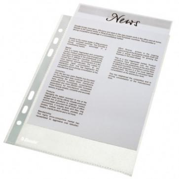 File din plastic, A5, transparent, 43 mic, 100 buc/set, ESSELTE