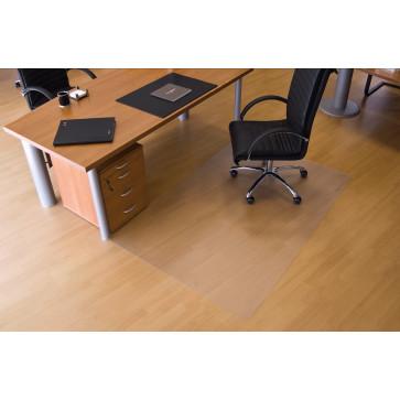 Protectie podea pentru suprafete dure, forma O, 240 x 120cm, RS OFFICE EcoGrip