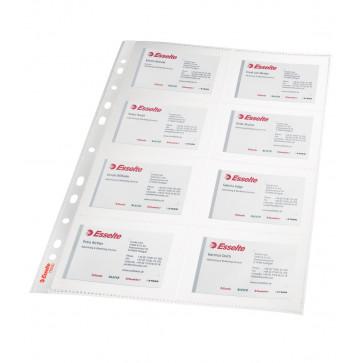 File de protectie pentru carti de vizita, A4, 105 mic., 10 buc, Esselte