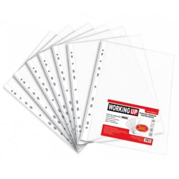File din plastic, A4, transparent cristal, 80 mic., 100 buc.set, PIGNA W-Up