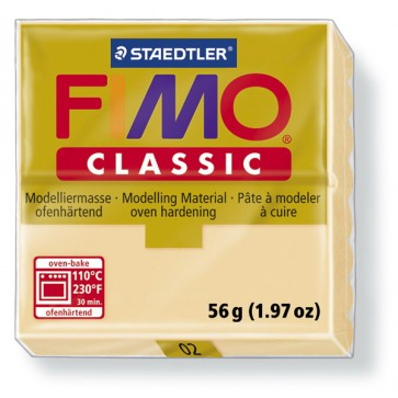 Plastilina pt. modelaj, 56gr, sampanie (champagne), STAEDTLER Fimo Classic