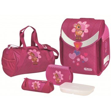 Ghiozdan ergonomic echipat, HERLITZ Flexi Plus Flower Fawn