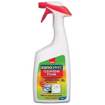 Detergent dezinfectant pentru uz universal, cu clor, 1 L, SANO Javel Cleaning Foam Trigger