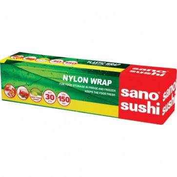 Folie din plastic transparent, alimentara, 30m/rola, SANO Sushi