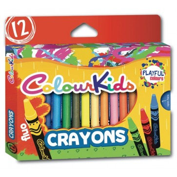 Creioane cerate, 12 culori/set, PIGNA Jumbo ColourKids