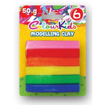 Plastilina, 50g, 6 culori/set, PIGNA ColourKids