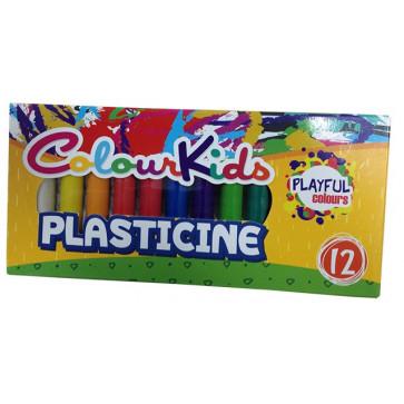 Plastilina, 200g, 12 culori/set, PIGNA Colour Kids
