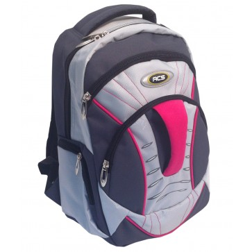 Rucsac, 36 x 26 x 13cm, gri, PIGNA School Friendly ACS