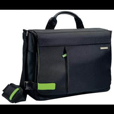 Geanta pentru laptop 15.6'', negru, LEITZ Smart Traveller Messenger