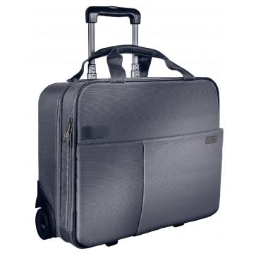 Geanta cu 2 rotile, argintiu, LEITZ Smart Traveller