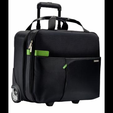 Geanta cu 2 rotile, negru, LEITZ Smart Traveller
