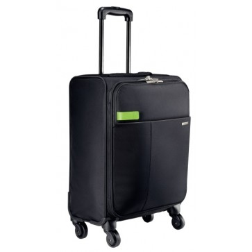 Geanta cu 4 rotile, negru, LEITZ Smart Traveller
