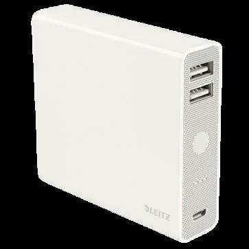 Baterie externa, cu USB, 12.000 mAh, alb, LEITZ Complete