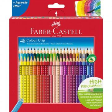 Creioane colorate, 48 culori/set, FABER CASTELL Grip 2001
