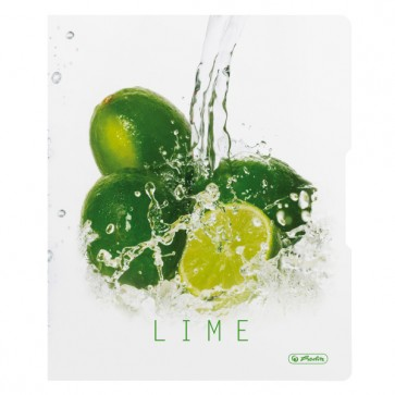 Caiet mecanic, A4, 2 inele, 16mm, HERLITZ Fresh Fruit lime