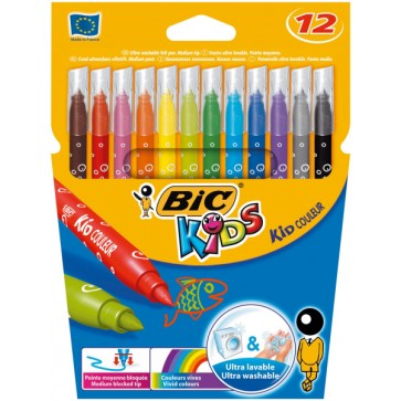 Carioci, 12 culori/set, BIC KiDS KID COULEUR