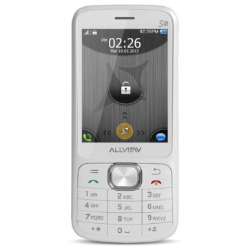 "Telefon mobil Dual Sim, 2.8"", 2MP, Micro SD, Bluetooth, Alb, ALLVIEW S5 Simply"