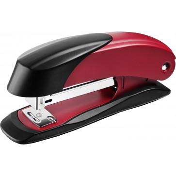 Capsator de birou, pentru maxim 30 coli, capse 24/6, rosu, LACO H400