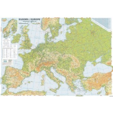 Harta plastifiata, Europa fizica si rutiera, 100 x 70cm, AMCO PRESS