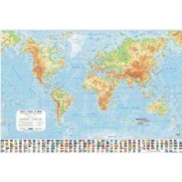 Harta plastifiata, Lumea fizica, 70 x 50cm, AMCO PRESS