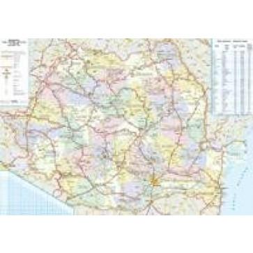 Harta plastifiata, Romania administrativa, 70 x 50cm, AMCO PRESS