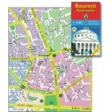 Harta pliata, Bucuresti administrativ-rutiera, 70 x 100cm, AMCO PRESS