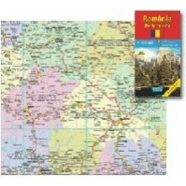 Harta pliata, Romania rutiera, 70 x 100cm, AMCO PRESS