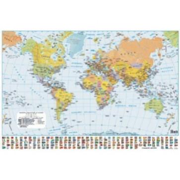 Harta plastifiata, Lumea politica, 140 x 100cm, AMCO PRESS