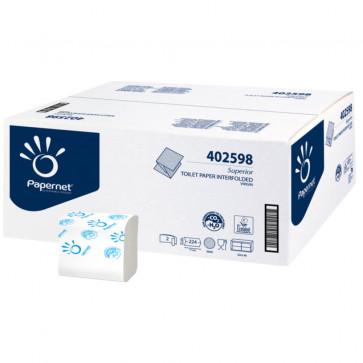 Hartie igienica pliata, 2 straturi, alb, PAPERNET