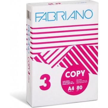 Hartie copiator A4, 80gmp, 500 colitop, FABRIANO Copy Office 3