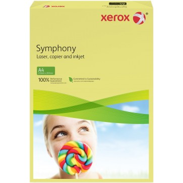 Hartie colorata A3, galben deschis, 80 g/mp, 500 coli, XEROX Symphony