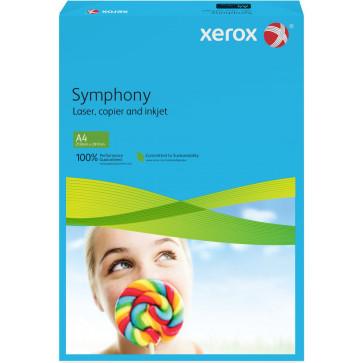 Hartie colorata A4, albastru inchis, 160 gmp, 250 coli, XEROX Symphony