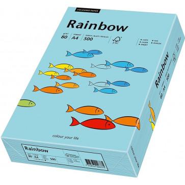 Hartie colorata A4, albastru mediu, 80 g/mp, 500 coli, RAINBOW