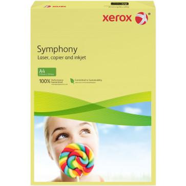 Hartie colorata A4, galben deschis, 160 g/mp, 250 coli, XEROX Symphony