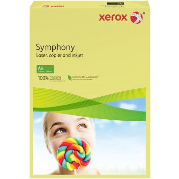 Hartie colorata A4, galben deschis, 80 g/mp, 500 coli, XEROX Symphony