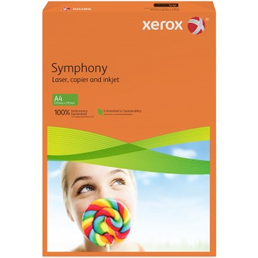 Hartie colorata A4, portocaliu, 160 g/mp, 250 coli, XEROX Symphony