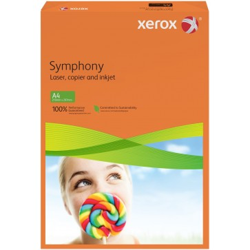 Hartie colorata A4, portocaliu, 80 g/mp, 500 coli, XEROX Symphony