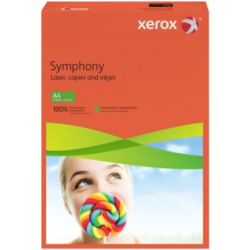 Hartie colorata A4, rosu inchis, 80 g/mp, 500 coli, XEROX Symphony