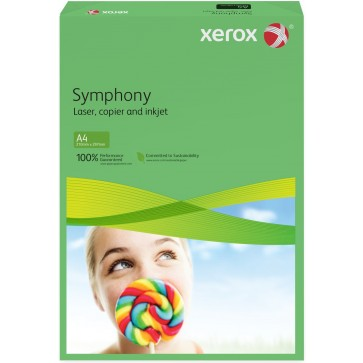 Hartie colorata A4, verde inchis, 80 g/mp, 500 coli, XEROX Symphony