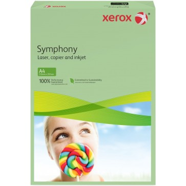 Hartie colorata A4, verde mediu, 80 g/mp, 500 coli, XEROX Symphony