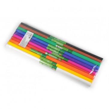 Hartie creponata 200 x 50cm, 10 culori/set, KOH-I-NOOR Mix