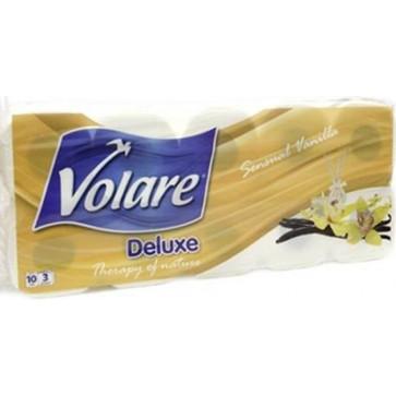 Hartie igienica, 10 role/3 straturi, vanilie, VOLARE Deluxe