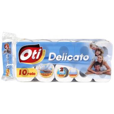 Hartie igienica, 2 straturi, 10 role, OTI Delicato