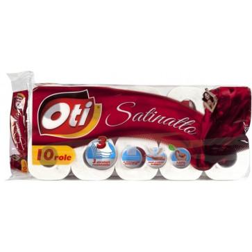 Hartie igienica, 3 straturi, 10 role, OTI Satinatto
