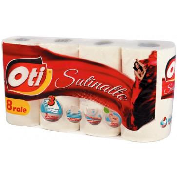 Hartie igienica, 3 straturi, 8 role, OTI Satinatto